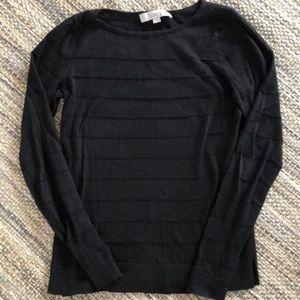 LOFT women's black lightweight sweater